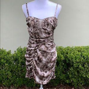Silky Snake Mini Dress